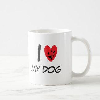 私は私の犬を愛します コーヒーマグカップ