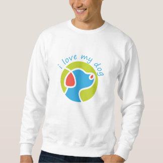 私は私の犬を愛します スウェットシャツ