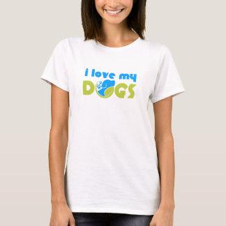 私は私の犬を愛します Tシャツ