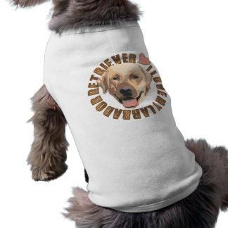 私は私の犬-ラブラドル・レトリーバー犬--を愛します ペット服