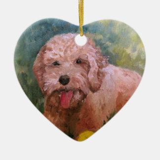 私は私の犬Oranament Goldendoodle /Labradoodleを愛します。 セラミックオーナメント