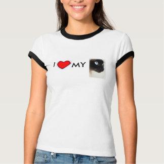 私は私の猫のTシャツを愛します Tシャツ