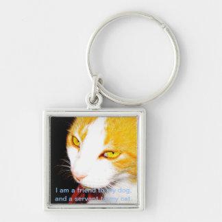 私は私の猫へ使用人です キーホルダー
