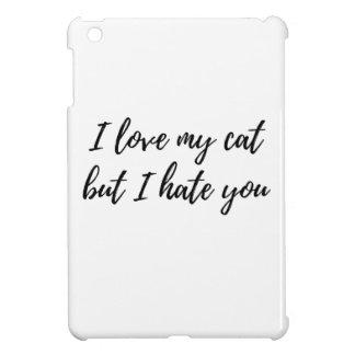 私は私の猫-黒--を愛します iPad MINIケース