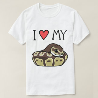 私は私の球の大蛇のかわいいおもしろいな人のTシャツを愛します Tシャツ