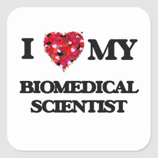 私は私の生体科学者を愛します スクエアシール