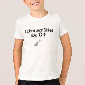 私は私の生命住んでいます Tシャツ