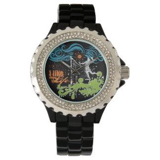 """""""私は私の生命""""バレーボールの腕時計好みます 腕時計"""