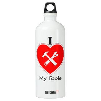 私は私の用具を愛します ウォーターボトル