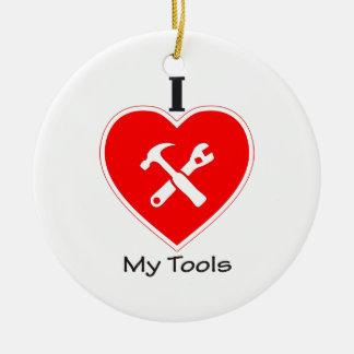 私は私の用具を愛します セラミックオーナメント