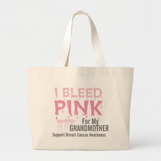 私は私の祖母の乳癌のためのピンクを出血させます ラージトートバッグ
