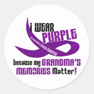 私は私の祖母の記憶33のための紫色を身に着けています ラウンドシール
