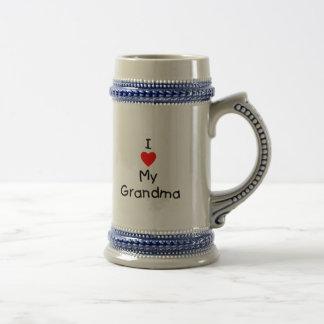 私は私の祖母を愛します ビールジョッキ