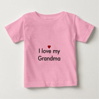 私は私の祖母を愛します ベビーTシャツ