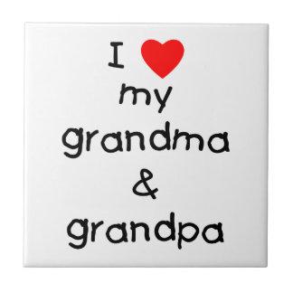 私は私の祖母及び祖父を愛します タイル