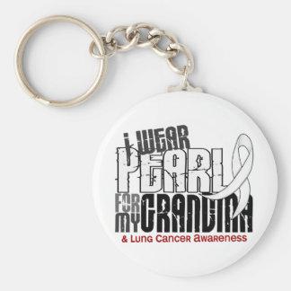 私は私の祖母6の肺癌のための真珠を身に着けています キーホルダー