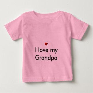 私は私の祖父を愛します ベビーTシャツ