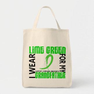 私は私の祖父46のリンパ腫のためのライムグリーンを身に着けています トートバッグ