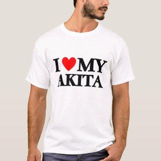 私は私の秋田を愛します Tシャツ