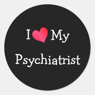 私は私の精神科医を愛します ラウンドシール