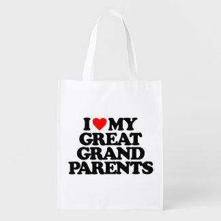 私は私の素晴らしい-祖父母愛します エコバッグ