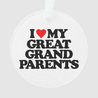 私は私の素晴らしい-祖父母愛します オーナメント