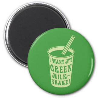 私は私の緑のミルクセーキのTシャツがほしいと思います マグネット