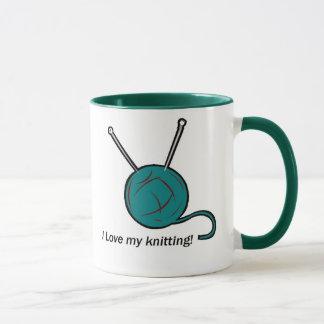 私は私の編み物のマグを愛します マグカップ