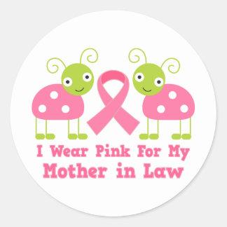 私は私の義母のためのピンクを身に着けています ラウンドシール