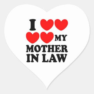 私は私の義母を愛します ハートシール