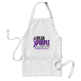私は私の義理の姉妹10の癲癇のための紫色を身に着けています スタンダードエプロン
