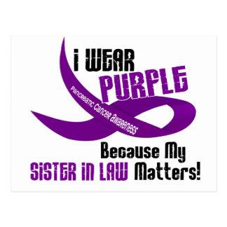 私は私の義理の姉妹33のTシャツのための紫色を身に着けています ポストカード