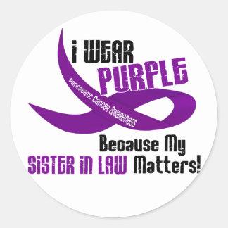 私は私の義理の姉妹33のTシャツのための紫色を身に着けています ラウンドシール