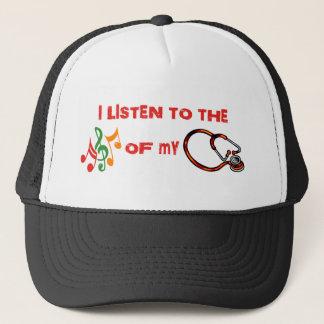 私は私の聴診器の音楽に聞きます キャップ