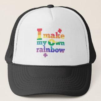 """""""私は私の自身の虹""""の多彩なメッセージ作ります キャップ"""