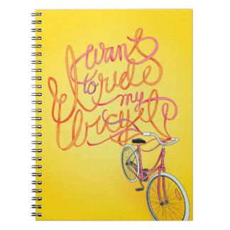 私は私の自転車-ノート--に乗りたいと思います ノートブック