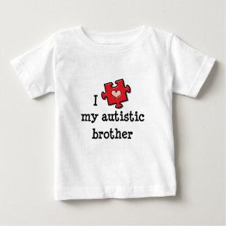 私は私の自閉症の兄弟の乳児のティーを愛します ベビーTシャツ