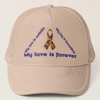 私は私の自閉症の児童のユニークな帽子のデザインのserieを愛します キャップ