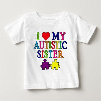 私は私の自閉症の姉妹を愛します ベビーTシャツ