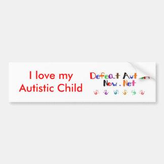 私は私の自閉症の子供を愛します バンパーステッカー