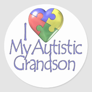 私は私の自閉症の孫を愛します ラウンドシール