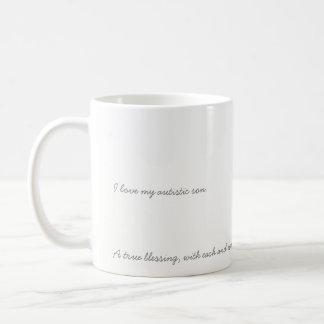 私は私の自閉症の息子のマグを愛します コーヒーマグカップ