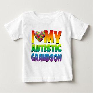 私は私の自閉症Grandson.pngを愛します ベビーTシャツ