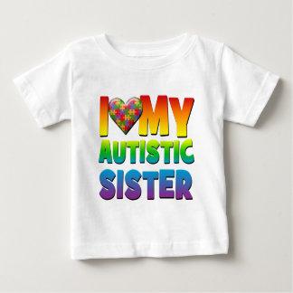 私は私の自閉症Sister.pngを愛します ベビーTシャツ