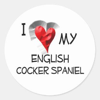 私は私の英国のコッカースパニエルを愛します ラウンドシール