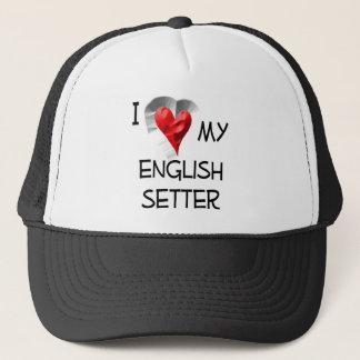 私は私の英国セッターを愛します キャップ
