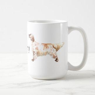 私は私の英国セッターを愛します コーヒーマグカップ