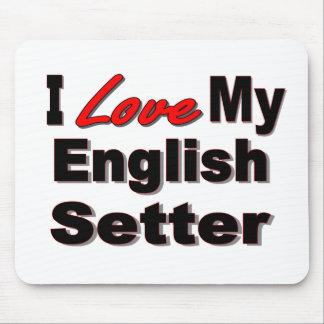 私は私の英国セッター犬のギフト及び服装を愛します マウスパッド