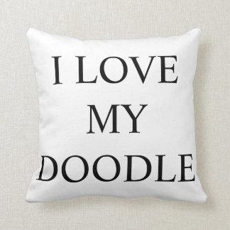 私は私の落書きLABRAの金落書き犬の枕を愛します クッション