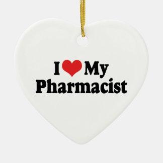 私は私の薬剤師のオーナメントを愛します セラミックオーナメント
